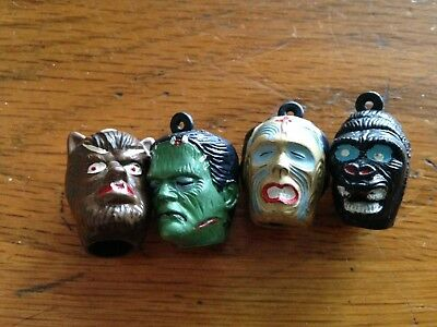 1960s Vintage Universal Monster Gumball Vending Charm Pencil Topper Prize Lot