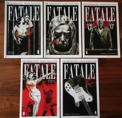 Fatale 15 16 17 18 19 Pray For Rain Complete First Print Brubaker Phillips VG/FN