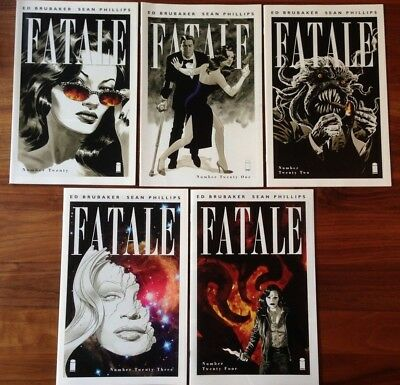 Fatale 20 21 22 23 24 Curse The Demon Complete 1st Print Brubaker Phillips VG/FN