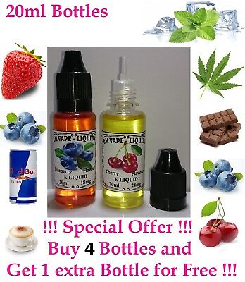 BLUEBERRY AND OTHER LIQUID  REFILL  20ml  or  Zero Vape