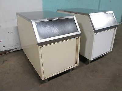 """Lot Of 2 """"royston"""" Commercial H.d. (Nsf) Double Sided Steel Trash Cabinet"""