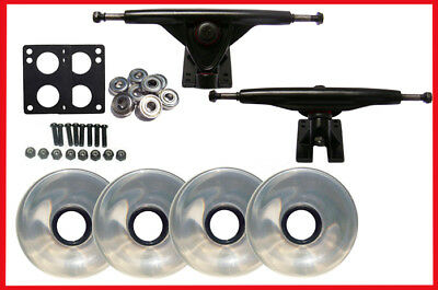 LONGBOARD SKATEBOARD 180 TRUCKS + 76mm WHEELS Package