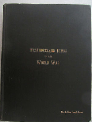 Vintage PA 1920's Book - WESTMORELAND TOWNS in the WORLD WAR WWI Greensburg ++