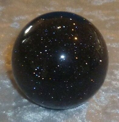 Blue Goldstone Sphere 40Mm