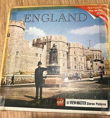 Vintage View Master Slides-England Nations Of The World Series