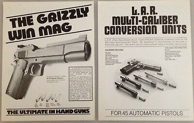 L.A.R. Grizzly 45 Win Mag 1983 Original Factory Advertising Literature Package