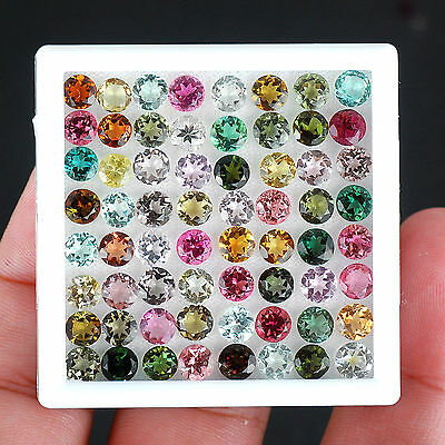 VVS 29.25 Cts/64 Pcs Natural Tourmaline AAA Finest Quality Untreated Gemstones