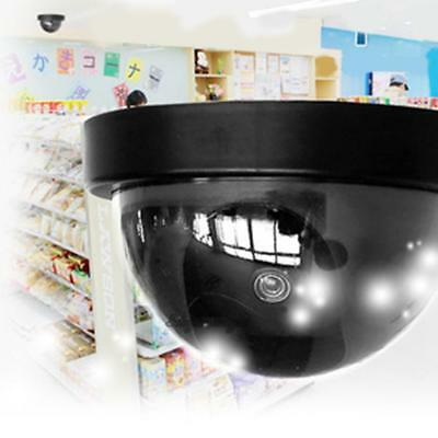 Fake Dummy Hemisphere Ball Security Surveillance Home Camera with LED Light Cam