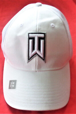 Nwt Tiger Woods Nike Golf Tour Performance Mens White S/m Fitted Golf Hat