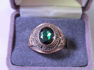 Vintage 1974 Notre Dame High School Size 11.75 10K Gold Class Ring 14 Grams