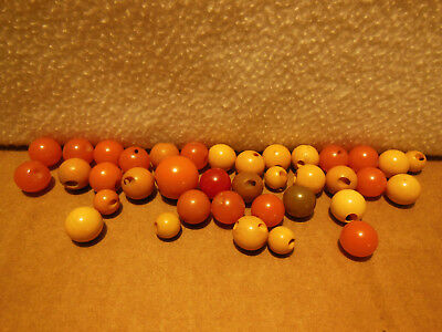 "37 Vintage Bakelite Ball Sphere Buttons Mixed Colors And Sizes 5/16"" To 5/8"""