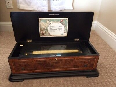 Antique Mermod Music Box From The Middle Or Late 1800's.