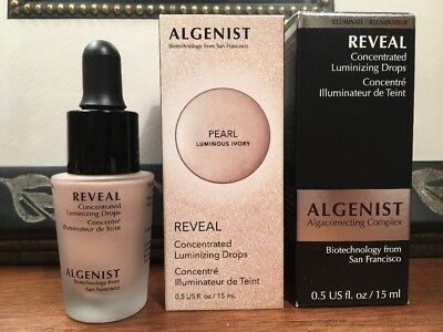 NIB*Algenist REVEAL Concentrated Luminizing Drops*PEARL*Ivory*FullSz*.5oz!