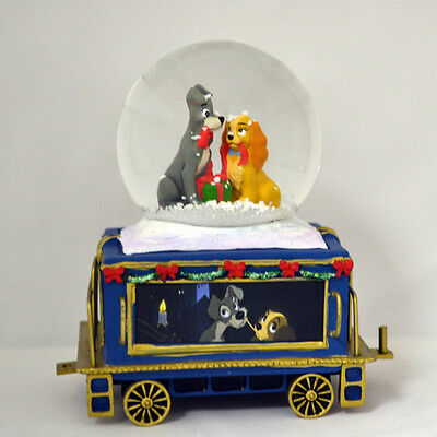 Lady and the Tramp Mickey Mini Express Snow Globe Train #7 Disney
