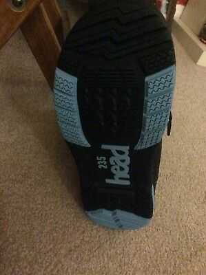 brand new black with blue piping Head snowboard boots. size 4 UK.
