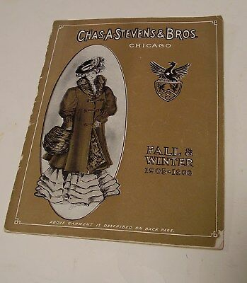Antique 1905-06 Chas. A. Stevens & Bros. Womens Fashion Catalog, 30 Pages, No Rs