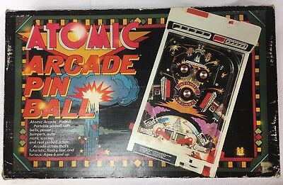 Vintage 1979 Tomy Atomic Arcade Tabletop Pinball Game Electronic Toy  NO RESERVE