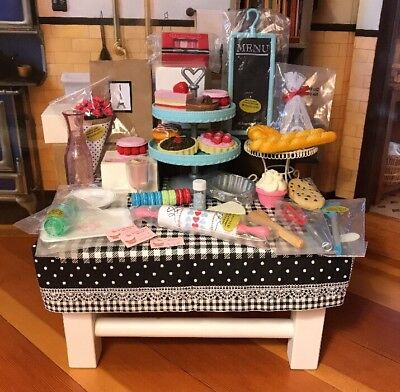 Huge American Girl Grace Thomas Bakery & Bistro Lot Filled W/Adorable Items-HTF