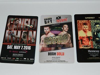 Set of 3 CANELO ALVAREZ MGM Las Vegas Key Cards!