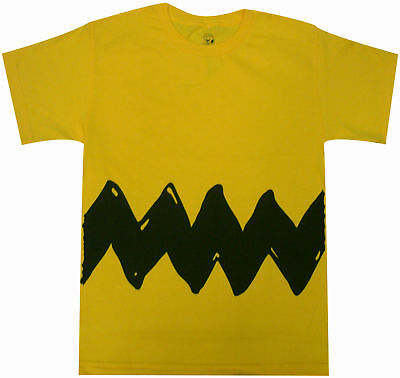 Peanuts Charlie Brown Double Sided Zig Zag Costume Youth T-Shirt -Halloween Gift