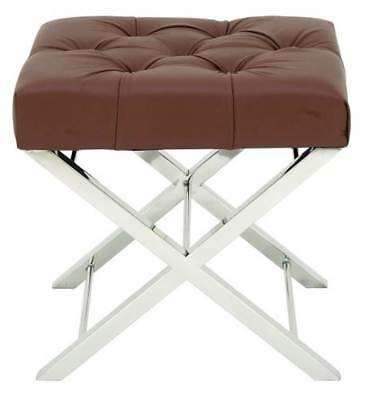 Classic Tufted Leather Stool [ID 3644269]