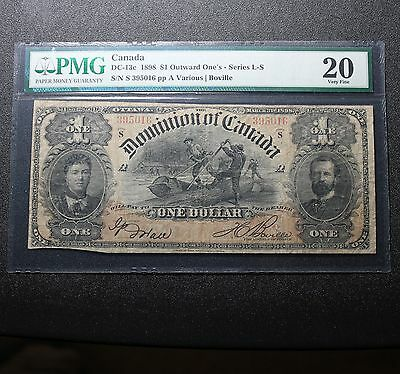 1898 Dominion Of Canada $1 Note DC-13c PMG 20