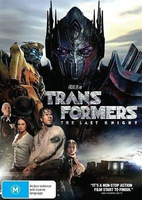 Transformers The Last Knight DVD R4 2017 New & Sealed