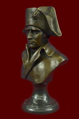 "Bronze Napoleon bust 10"" Hot Cast Bronze Sculpture Original Spanish Artist Milo"