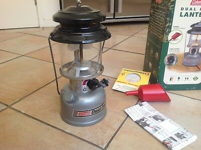 Coleman Dual Fuel Lantern As New With 2 Mantles, Instructions Etc Will Post