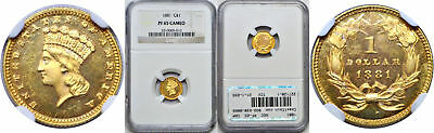 1881 One Dollar Gold Coin NGC PF-65 Cameo