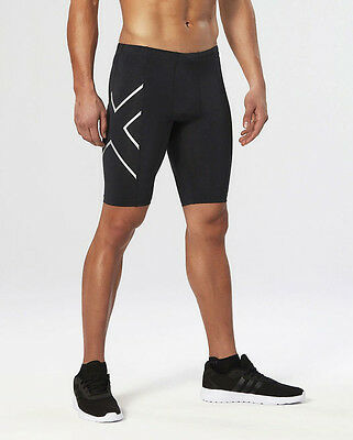 2XU Men's Compression Shorts Sportswear Skins Silver and Black with All Size