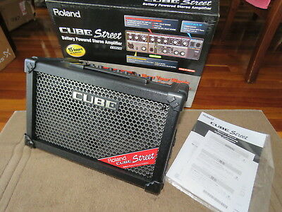 Roland Cube Street Portable Amp BRAND NEW Black Guitar Mic Keyboard Busking