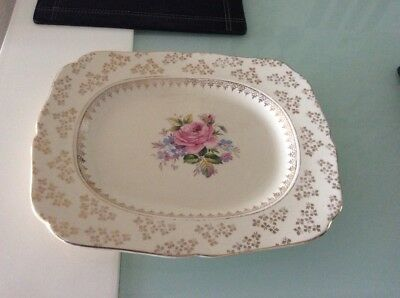 H&k Tunstall Cake Plate 1938-1942 Made In England