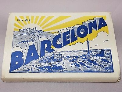 Vintage Collectable BARCELONA 10 Picture POSTCARDS