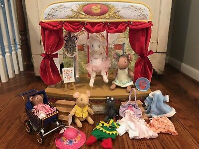 American Girl Angelina Ballerina Stage Set with all accessories