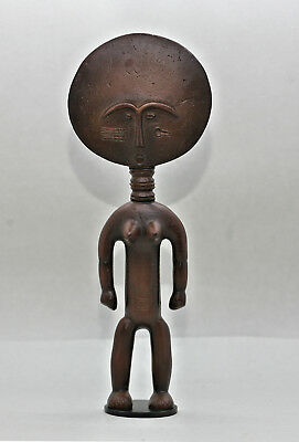 Excellent Very Well Made Famous African Fertility Figurine Asante