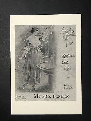 Repo Advertising Postcard STYLE BOOK MYER'S BENDIGO, Myer Stores Archives