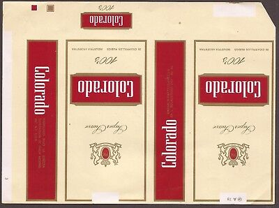 Emballage neuf de paquet de cigarette COLORADO C10