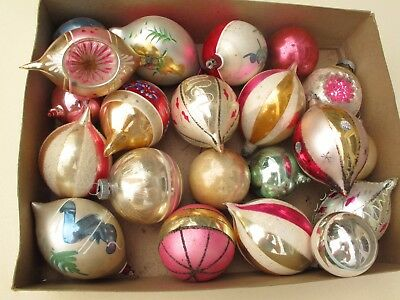 43 Vintage Glass Christmas Tree Ornaments + Tree Topper