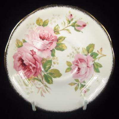 Royal Albert 'American Beauty' Pink Roses Bone China Orphan Saucer