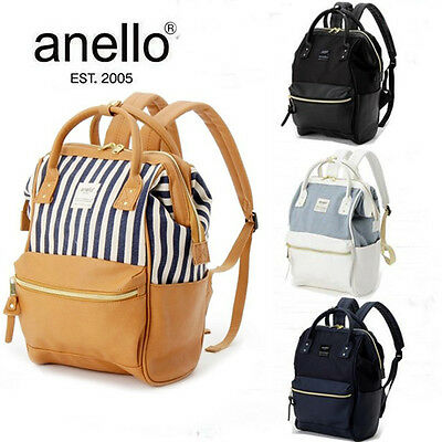 Japan Anello Fashion Backpack Rucksack Unisex Leather Quality School Bag Campus