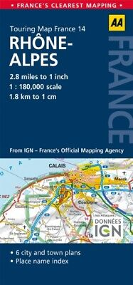 AA Road Map Rhone-Alpes (AA Touring Map France 14) (Road Map France) (Map), Aa .