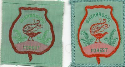 Victoria Scout Badge   Sherbrooke Forest X 2