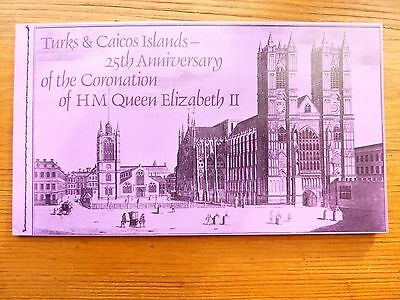 930] - TURKS & CAICOS STAMPS - BOOK- 25th. ANNIV. of CORONATION of QE 11  1978