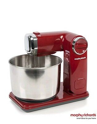 Morphy Richards folding stand mixer - red