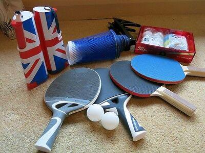 Table Tennis Table Blue. With All Equipment