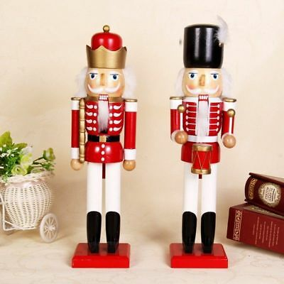 38Cm Xmas Christmas Traditional Wooden Nutcracker Soldier Display Gift
