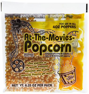 Popcorn & Coconut Oil Portion Packs At-The-Movies Case of 24 (4oz Kettle)