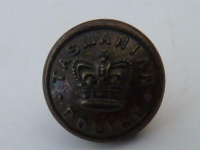 Tasmanian Pre Federation Police Button  - Qvc  (Type 2)