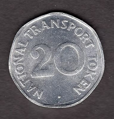 National Transport Token 20p CVD6 Bus 1949 R34891